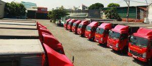 xe tải chở hàng đi nha trang